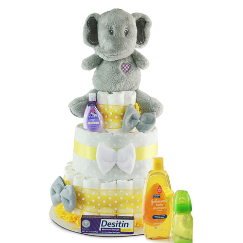 Never Forget Diaper Cake