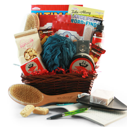 Pamper Dad Fathers Day Wine Spa Basket