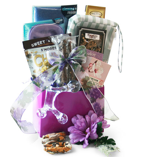 Pamper Me Purple Spa Gift Basket