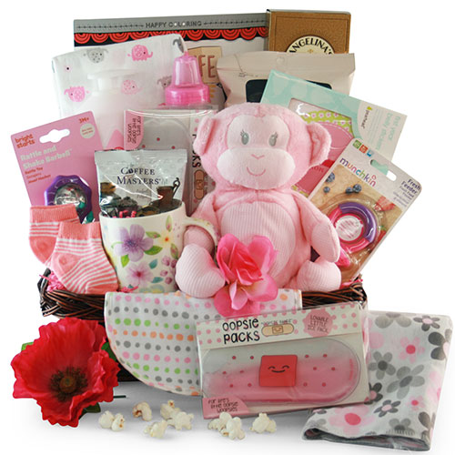 Pretty in Pink Baby Gift Baskets