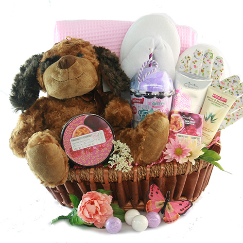 Valentines day gift baskets valentines gifts for him her diygb puppy love valentines gift basket negle Choice Image