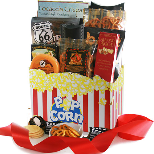 Red Carpet Movie Night Gift Basket