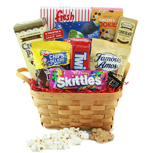Movie gift baskets ideas for movie night baskets diygb roll em movie gift solutioingenieria Image collections