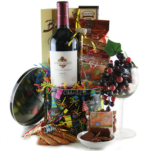 A Round of Applause Wine Gift Basket