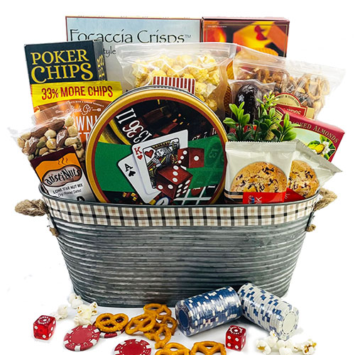 Royal Flush Poker Gift Basket