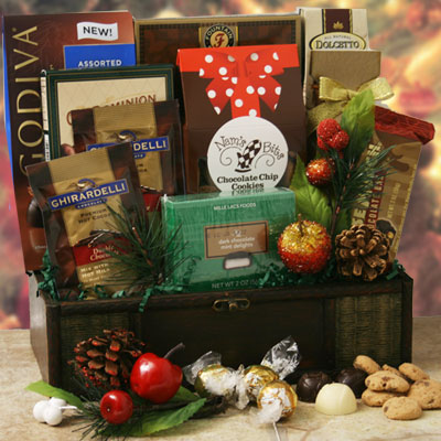 Santas Treasures Chocolate Gift Basket