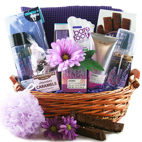 Scents of Lavender Spa Gift Basket