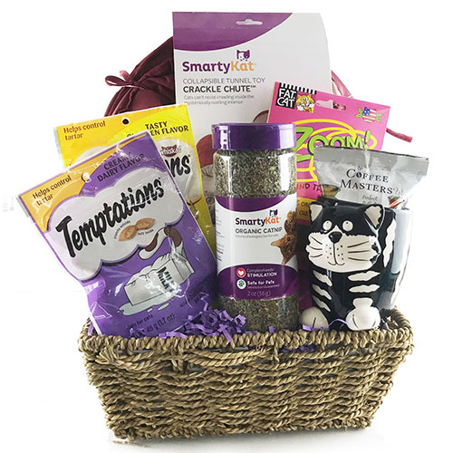Smarty Cat Pet Gift Basket Cat