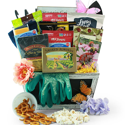 Gardening Gift Basket Ideas gardening gift baskets make a garden hat into a gift basket for your mom Spring Madness Gardening Gift Basket