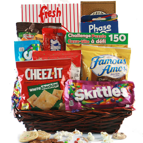 Stayin Home Snacks Gift Basket
