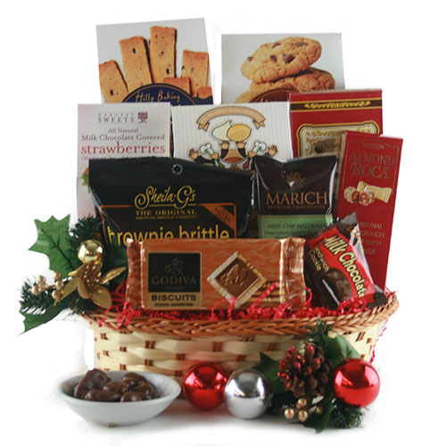 St Nicks Holiday Assortment Christmas Gift Basket