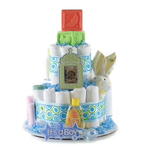 Sweet Baby Boy Baby Diaper Cake