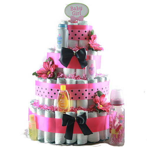 Sweet Cheeks Baby Diaper Cake