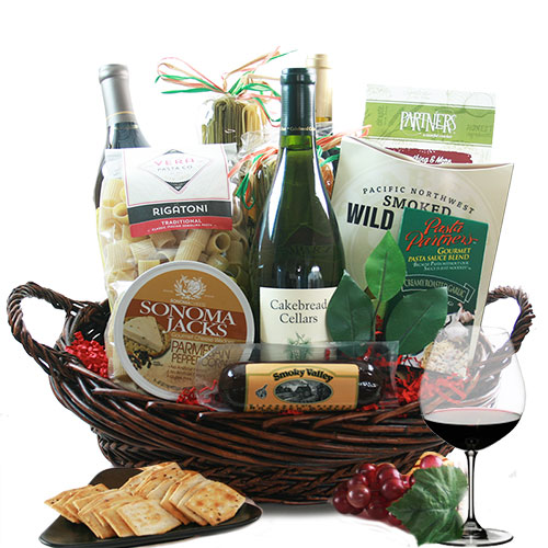 Tastes of Italy Wine Gift Basket