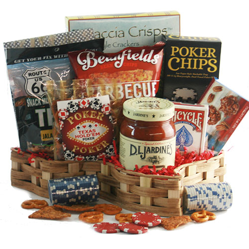 Texas Hold em Poker Gift Basket