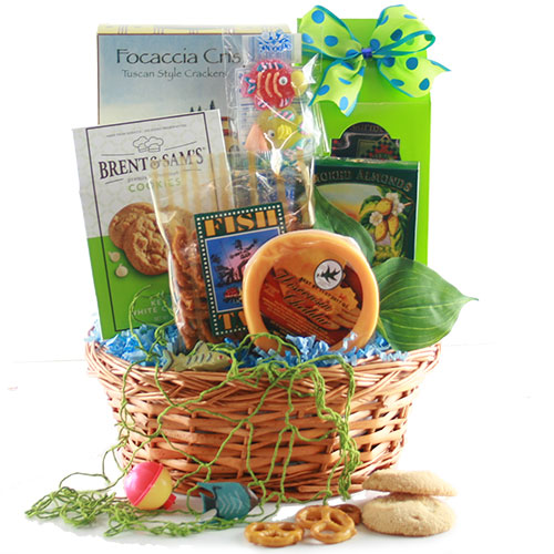 Fathers day gift baskets the big one fishing gift basket for Fishing gifts for dad