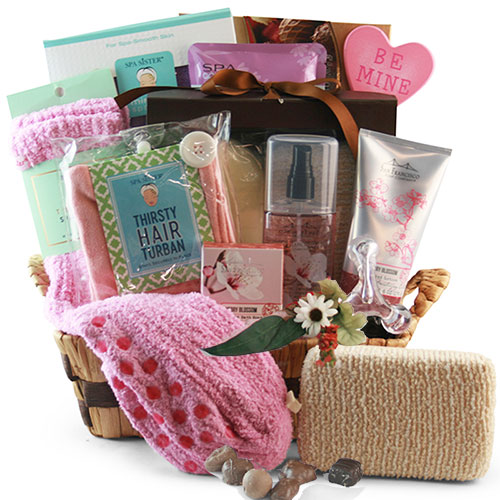 Tickled Pink Spa Gift Basket