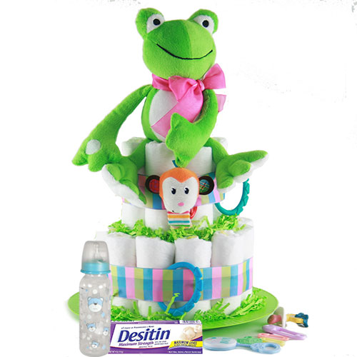Toadally Cute Diaper Cake