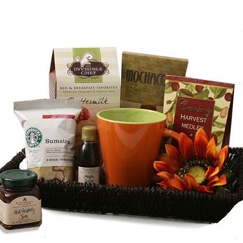 Tray Gourmet Breakfast Gift Basket