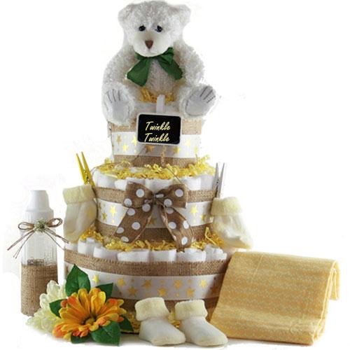 Twinkle Twinkle Baby Diaper Cake