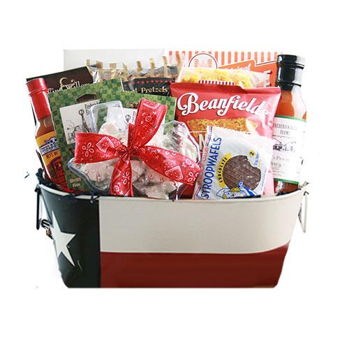 Lg Texas Gift Basket TXFLAG
