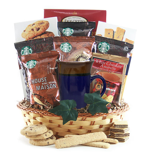 Wake Up Call Starbucks Coffee Gift Basket