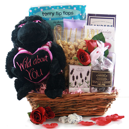 Wild About You Valentine Gift Basket