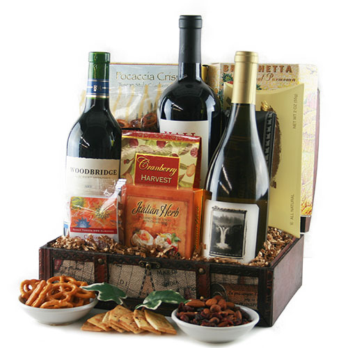 Wine Retreat Wine Gift Basket