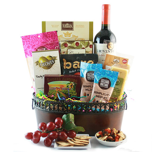Wine Treasures WIne Gift Basket