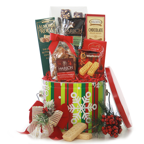 Snowflake Treats Christmas Gift Basket