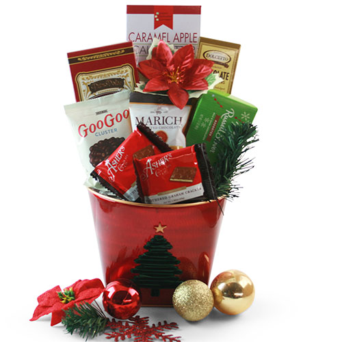 Holiday Chocolate Classic Christmas Gift Basket