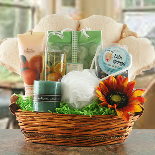 Spa Essentials - Spa Gift Basket