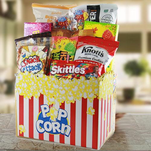 Movie Night – Movie Gift Basket