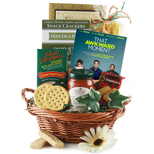 Dinner and a Movie  – Movie Gift Basket