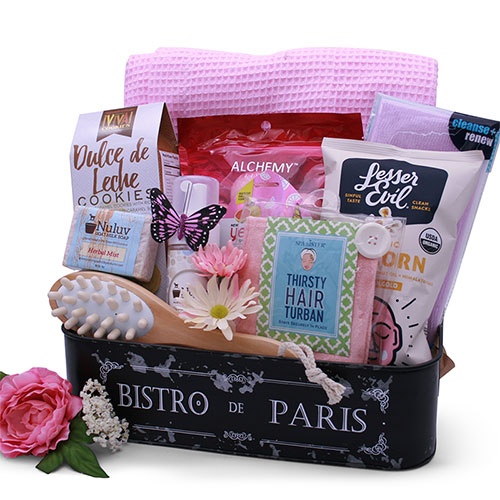 Pamper Pleasures – Pamper Gift Basket
