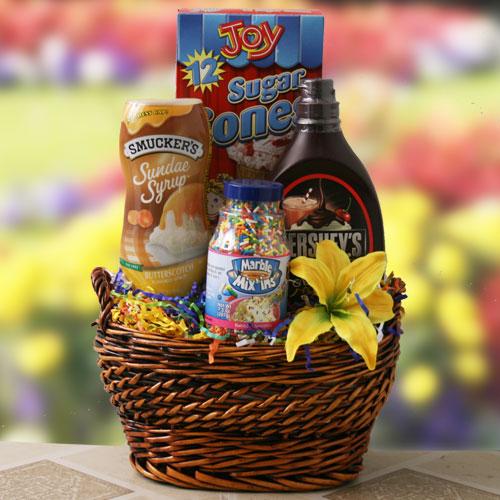 Scoop a Scream - Ice Cream Gift Basket - Gift Baskets